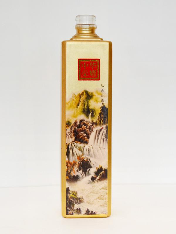 中华荣耀喷釉玻璃瓶